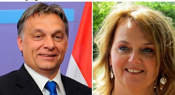 Dunst Eszter és példaképe, Orbán Viktor. Fotó: Facebook.
