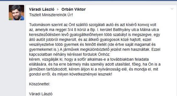 Gyerekek közé hajtott Orbán Viktor konvoja?